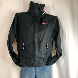 Bench BBQ Jacket Grey with Pink Stitching